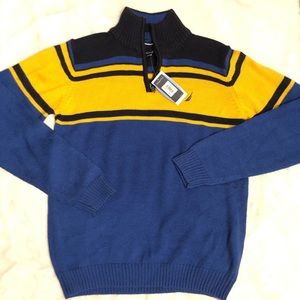 Nautica 1/4 Zip Wool Knitted Sweater Size Small